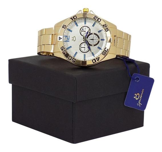 Relógio Orizom Original Masculino Dourado + Caixa
