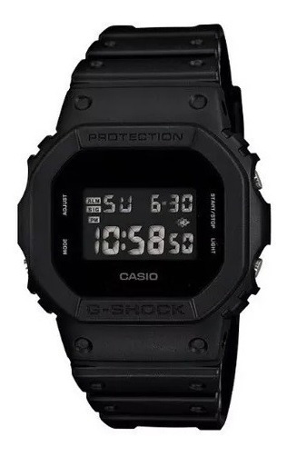 Relógio G-shock Digital Preto Dw-5600bb-1dr 12562 Original