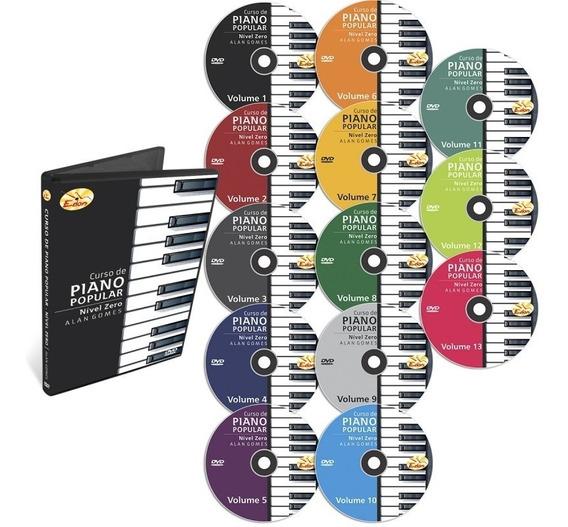 Coleção Curso Piano Nível Zero Em 13 Dvds - Original - Edon
