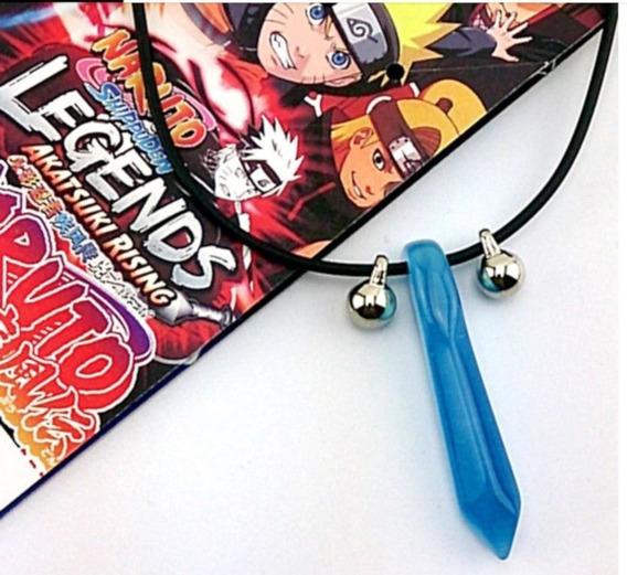 Colar Naruto Tsunade Pedra Azul Primeiro Hokage Hashiram