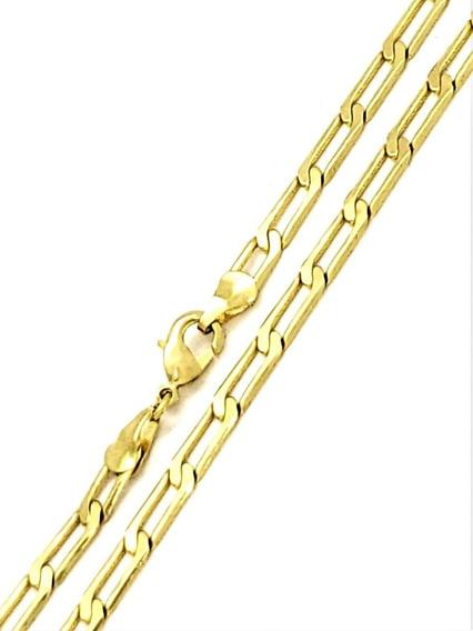 Corrente Cordão Masculino 70cm Banhado De Ouro 18k 3518