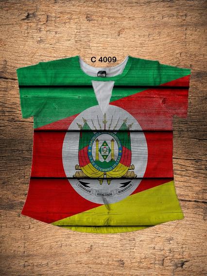 Blusa Choker Feminina Bandeira Rio Grande Do Sul C4009