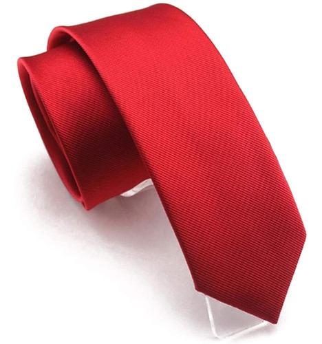 Lazo Clásico De Color Sólido Para Hombre Corbata Delgad...