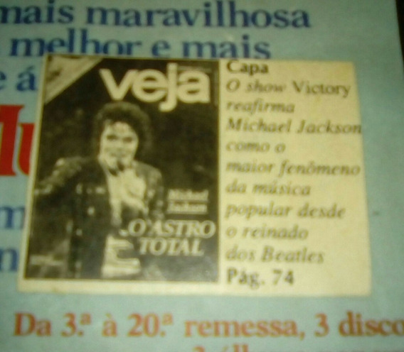Revista Michael Jackson Tour Victory The Jacksons 1984