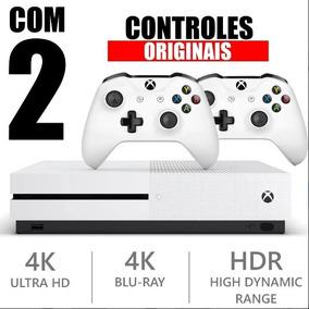 Xbox One S 1 Tb 4k C/ 2 Controle S/ Fio, Jogo, Garantia, Nf