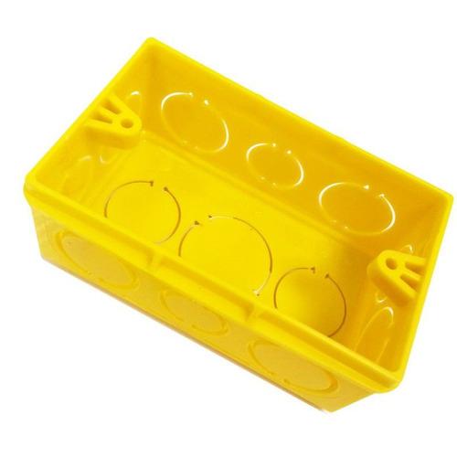 Imagem 1 de 2 de Caixa De Luz Amarela 4x2 Tigre 110 Peças