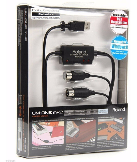Interface Áudio Midi Usb Roland Um-one Mk2
