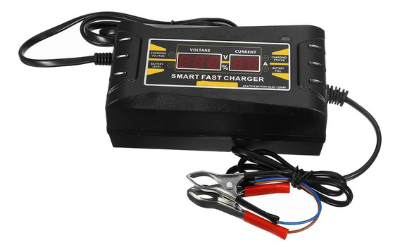 Carregador Bateria Rápido Inteligente Motocicleta De 12v 6a
