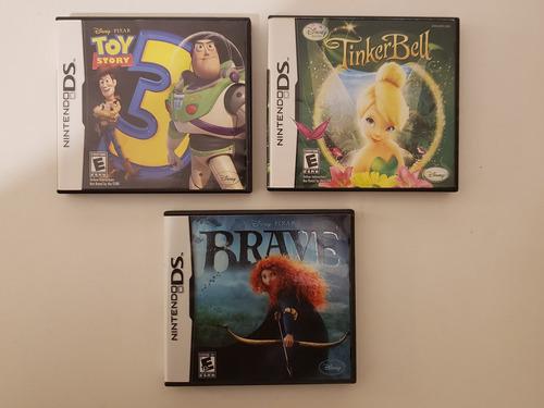 Imagen 1 de 10 de Lote 3 Videojuegos Nintendo Ds Toy Story 3 Brave Tinker Bell
