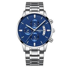 Relógio Masculino Nibosi Social Esportivo Nova Coleção