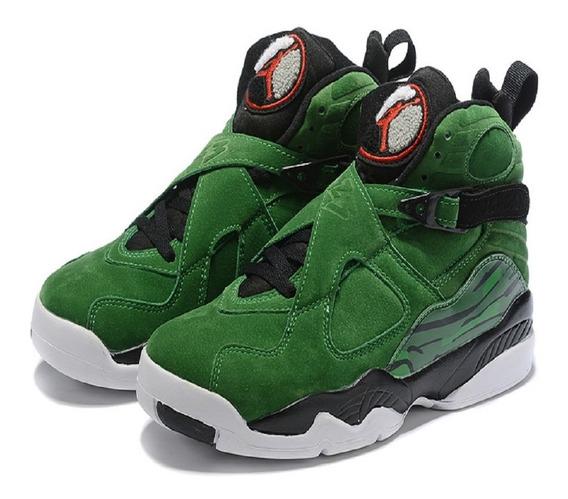 Tênis Jordan 8 Retro Verde Estilos S/taxas C/caixa 17