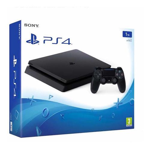 Ps4 Consola Play Station 4 Slim - Negro - 1 Tb