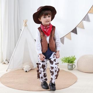 Festa Fazendinha Cowboy Criança Calça Colete Chapéu Bandana
