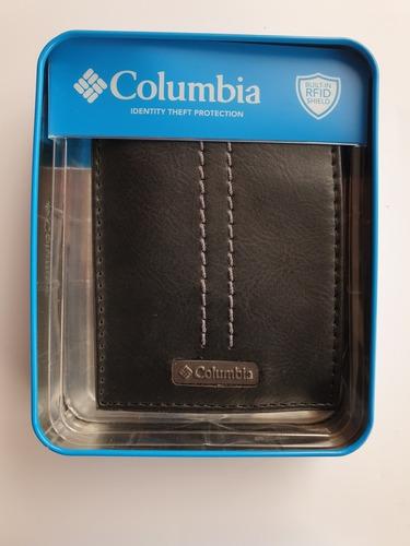 Billetera De Hombre Columbia Original Ns Black
