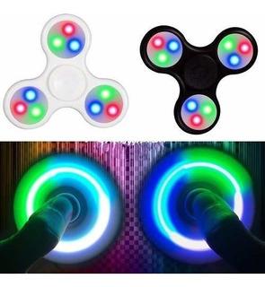 Spinner Luces Led Fidget Juguete Anti Estres Ansiedad