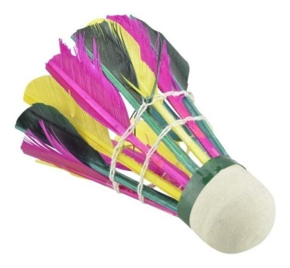 Gallito Badminton 4 Piezas Nucleo Esponja Y Plumas Gallitos