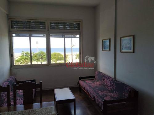 Apartamento Com 2 Dormitórios À Venda, 70 M² Por R$ 450.000,00 - José Menino - Santos/sp - Ap0751