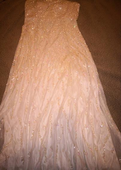 Vestido De Novia O Xv Años Talla 14 Xl Ivory Bordado