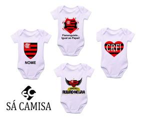 Kit Com 4 Body Infantil Flamengo -estica