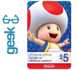 Nintendo Eshop Tarjeta Codigo $5 - Garantizados Ecuador Geek