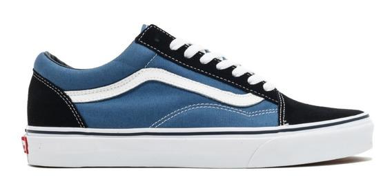 Tenis Vans Old Skool Navy Azul Original Hombre Vn000d3hnvy