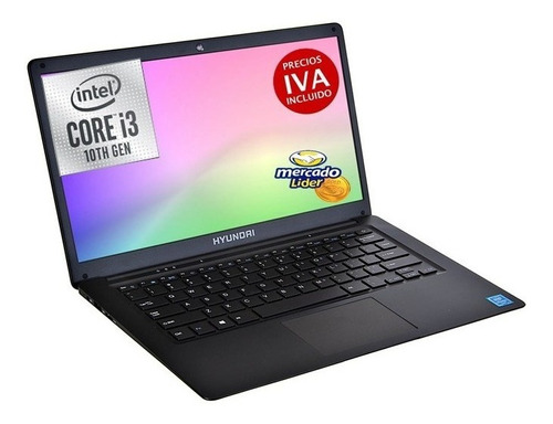Laptop Portatil Hyundai Core I3 10ma 4gb 500gb+64gb Sdd 14