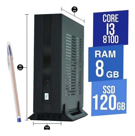 Mini Pc Concordia Desktop I3 8gb Ssd 120gb