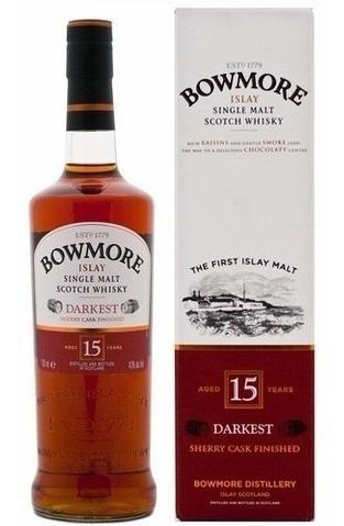 Whisky Single Malt Bowmore 15 Años Sherry Cask Finished.
