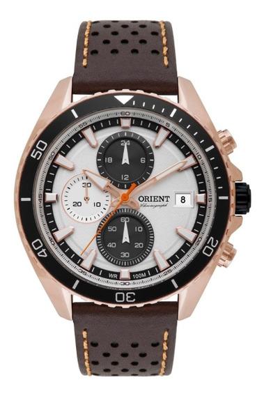 Relógio Masculino Orient Cronógrafo Mrscc012 S1ex Rosê