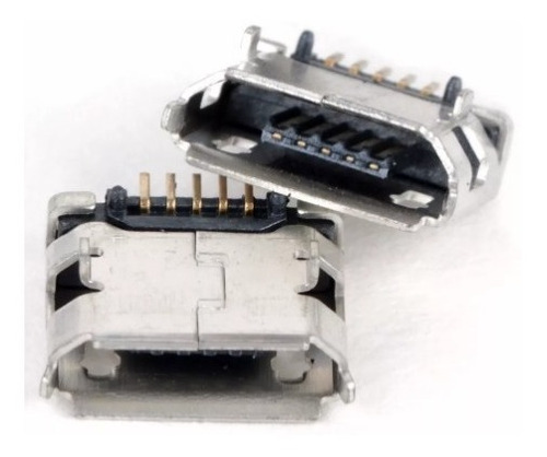 Jack Conector Carga Power Tablet Micro Usb V8 - Kit Com 2 Un