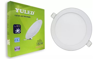 Panel Led Downlight Empotrable Luz Blanca De Día 18w Yuled