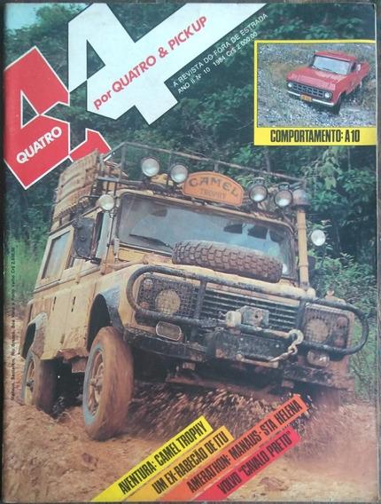 Revista 4x4 Nº10 1984 Poster: Land Rover Do Camel Trophy