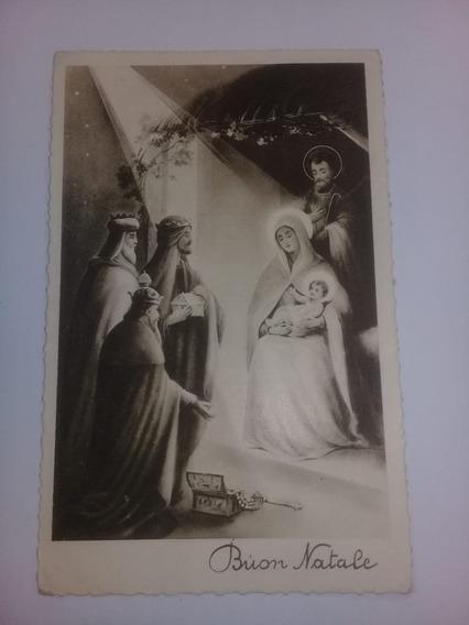 Tarjeta Postal Antigua Italia Firenze 1936- Navidad - V.f.