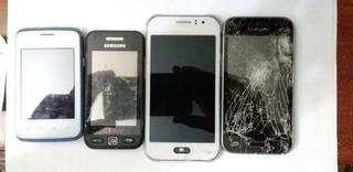 Lote 04 Celulares Samsung E LG -Ver Descrição