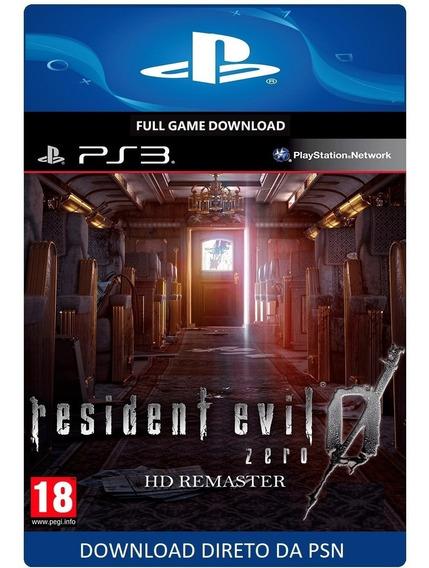 Resident Evil 0 - Ps3 - Digital