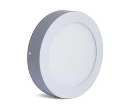 Kit C/5 Plafons Led Sobrepor Redondo 18w Branco Quente Ctb