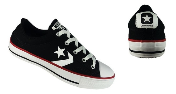 Converse All Star Preto Tênis Original Frete Off 009619