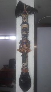Hacha De Guerrero Azteca De Piedra Onix Y Obsidiana
