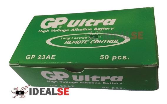 Bateria A23 12v Gp Ultra Alkaline Caixa C/ 50 Unidades