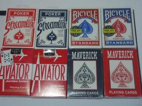 8 Baralhos 2 Bicycle Standard 2 Aviator 2 Maverck 2 Stream