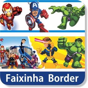04 Adesivos Parede Faixa Border Super Herói Hulk