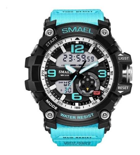 Reloj Digital Análogo Smael S-shock Cronómetro Alarma Luz Ag