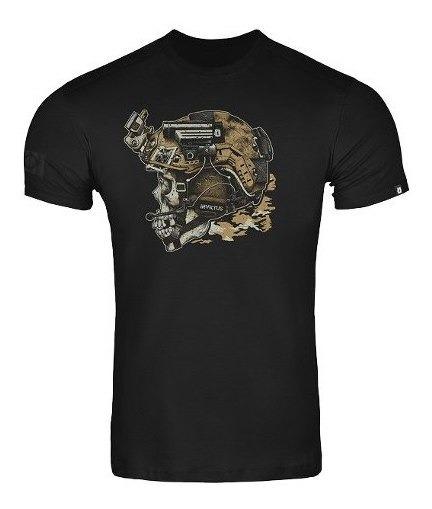 Camiseta Masculina 100% Algodão Tática Blackjack Invictus