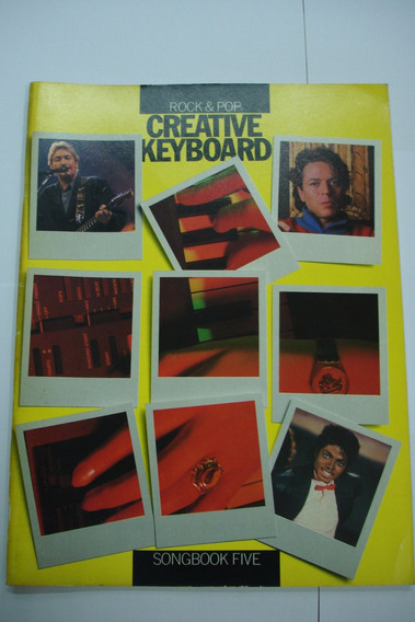 Livro - Teclado Creative Keyboard Rock & Pop - Five