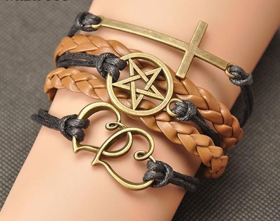 Bracelete Coração Cruz