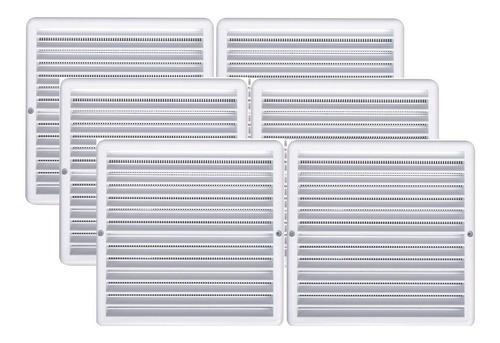 Kit 6 Grades Ventilação Quadrada Itc 25x25cm Com Tela Gq2525