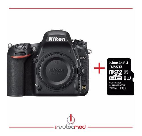Camara Nikon D750 Cuerpo + Memoria Sd 32gb Cl 10 + Estuche