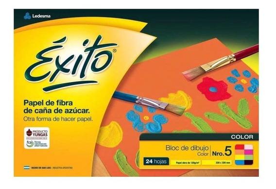 Block Dibujo Escolar Exito Color 24 Hojas N°5 Kaosimport 11