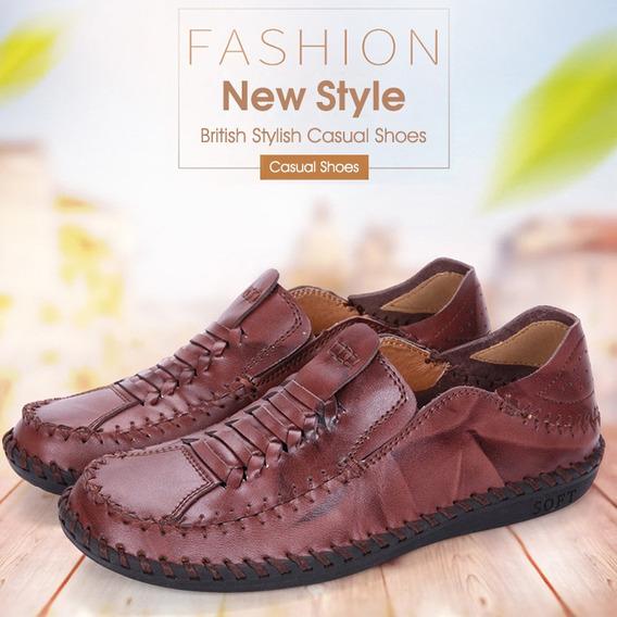 Homens Casual Trendy Britânico Estilo Sapatos
