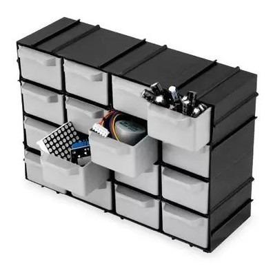 Imagem 1 de 8 de Gaveteiro Organizador Pequeno 16 Gavetas Modular